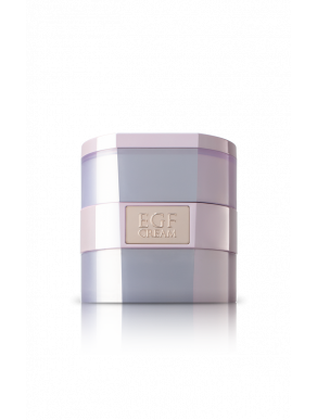 EGF cream is an anti-aging moisturizer made with peptides that promote cell turnover and collagen and elastin production.
