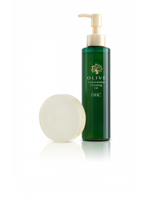 DHC The Hydrating Double Cleanse Set - Olive Concentrated Cleansing Oil 10 floz. & Olive Soap 3.1oz