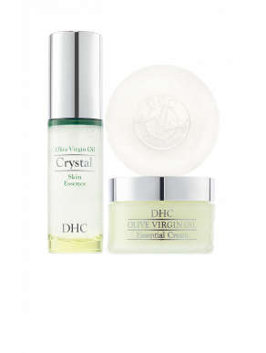 DHC Olive Virgin Oil Collection (Olive Soap, Olive Virgin Oil Cream & Crystal Skin Essence)