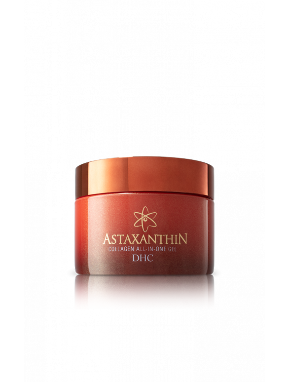 Astaxanthin Collagen All-in-One Gel is a lightweight facial moisturizer that helps prevent the signs of premature aging.