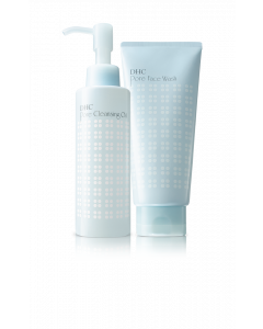DHC The Invigorating Double Cleanse Set - Double Facial Cleansing Set for clear, small pores