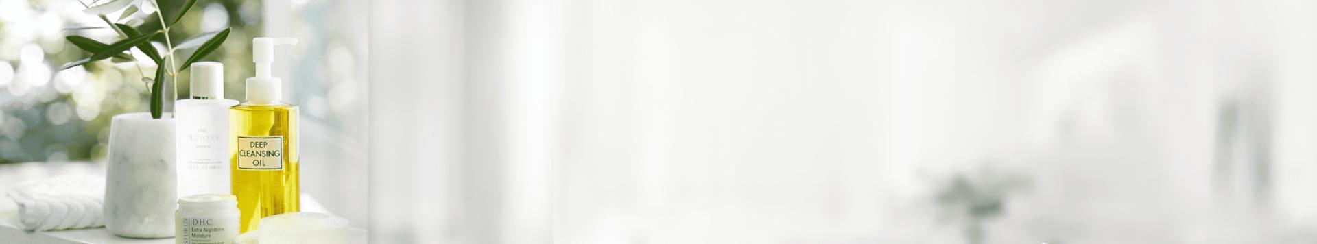 DHC Skincare products banner for Japanese 4 step regimen