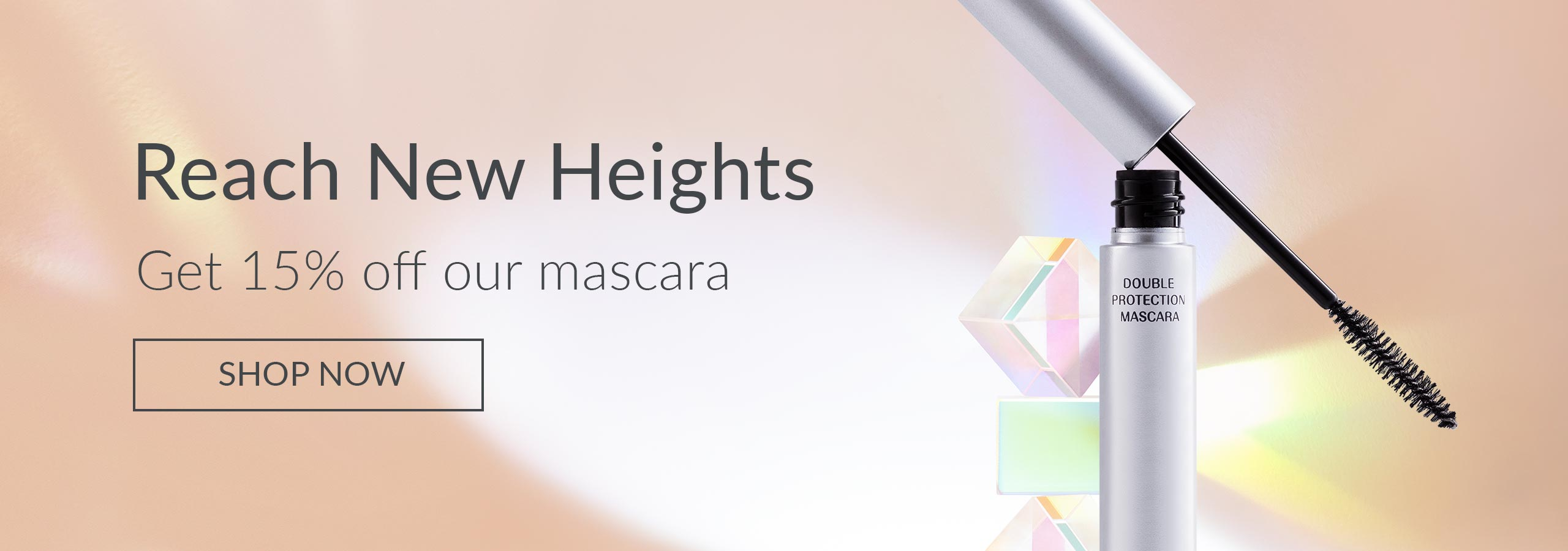 Reach new heights. Save 15% on our mascara.