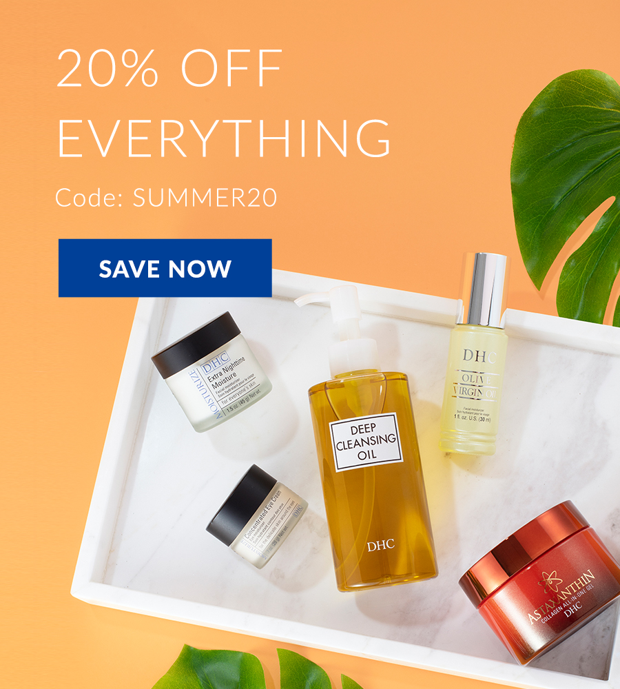 20% off everything with code SUMMER20. Save now.
