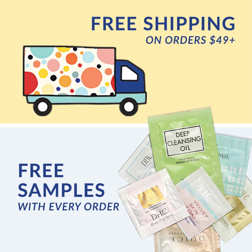 free shipping, free samples